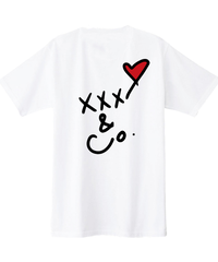 バックプリントXXX&Co. (5.0oz) 黒線