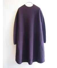 【日本製】ラウンドガーターバルーンワイドチュニック ( Whole Garment Knit )