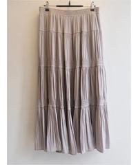 PEソフトツイルシャーリングティアードスカート