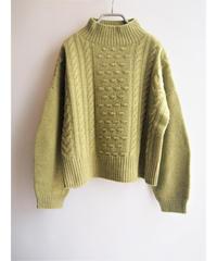 【日本製】ポップコーンケーブルワイドプルオーバー ( Whole Garment Knit )