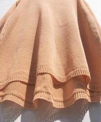 【日本製】強燃コード糸フレアーチュニック ( Whole Garment Knit )