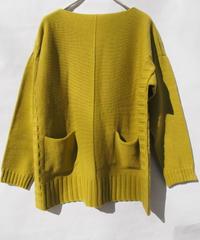 【日本製】BOXシルエットワイドプルオーバー ( Whole Garment Knit )
