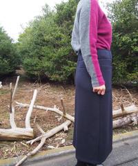 【日本製】8Gウールナイロン2WAYプルオーバー(Whole Garment Knit)