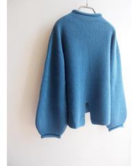 【日本製】アンゴラ混カールネックバックスリットプルオーバー ( Whole Garment Knit )