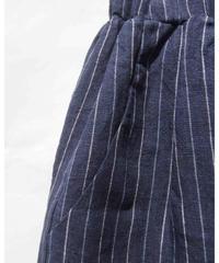 リネン DENIM ストライプロングスカート