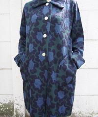 【日本製】オリジナル膨れ織りフラワーJQニットコート