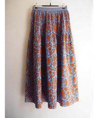 ミドルペイズリーPTタックプリーツスカート