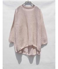 【日本製】ガーター編スリット入りバルーンプルオーバー ( Whole Garment Knit )