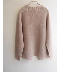【日本製】綿100%畦編みラグランプルオーバー ( Whole Garment Knit )