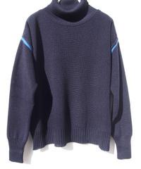 【日本製】畦編みカール配色ワイドセーター