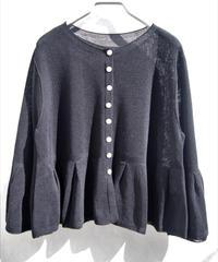 【日本製】ハイゲージ鹿の子編みフレアーカーディガン ( Whole Garment Knit )