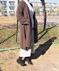 【日本製】エアヤーン鹿の子1釦コート