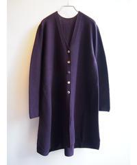 【日本製】ラウンドガーターVネックロングカーディガン ( Whole Garment Knit )