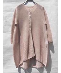 【日本製】ガーター編キーネックバルーンカーディガン ( Whole Garment Knit )