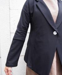 ストレッチ1釦プリンセスラインテーラードジャケット