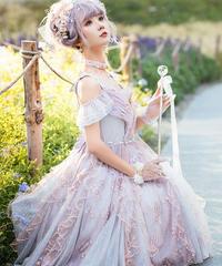 「雨の雫」ジャンパースカート(ピンク)【10/11まで】