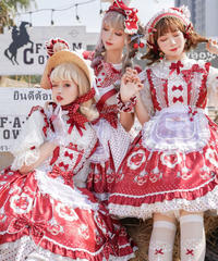 「ドットストロベリー」ジャンパースカートⅠ型(シャーリングなし)【3/31まで】