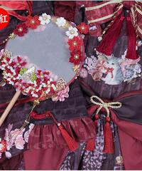 「紫藤の猫~春空幻夢」お花うちわ(再販)【3/15まで】