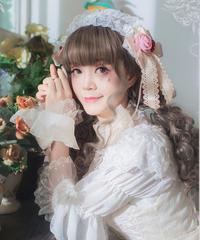 【現品販売】「Romantic Song」ヘッドドレス / お袖とめ(ペア)※お洋服と合わせ買いの方のみ※