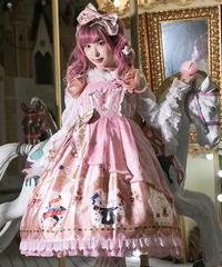 「Magic Show」ハイウエストジャンパースカート【3/12まで】