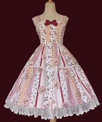 【現品販売】「Strawberry」ジャンパースカート