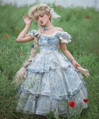 「Blue Rose」ジャンパースカート【6/20まで】