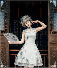 「引龍調」つけ衿付きチャイナドレスⅡ【2/11まで】