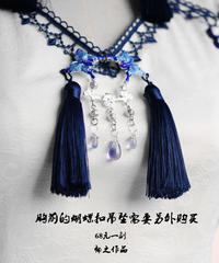 「冠藍鴉」蝶々飾り【2/15まで】