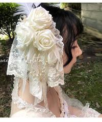 「真夏のシークレットガーデン」お花ヘッドドレス【12/27まで】