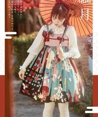 「朧月」ジャンパースカート(つけ襟セット)【1/30まで】