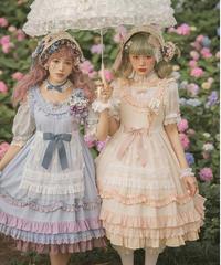 「Snow Flower」ジャンパースカート&エプロン セット【8/16まで】