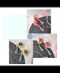 「小軒窓」お花飾り(ペア)※ジャンパースカートと合わせ買いの方のみ※【8/16まで】