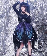 「蝶々〜バタフライエフェクト」ハイウエストジャンパースカート【10/1まで】
