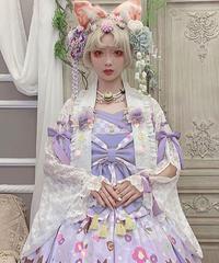 「花想容」レース羽織り(白系7色)【7/12まで】