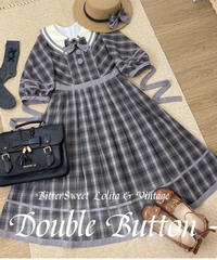 「Double Button」ショートワンピース【3/28まで】