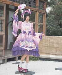 「紫藤の猫~春空幻夢」ジャンパースカート(再販)【3/15まで】