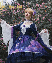 「アジサイの迷夢」ワンピースドレス(アクセサリーセット付き)【2/29まで】