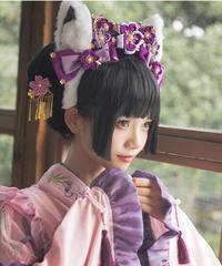 「紫藤の猫~春空幻夢」猫耳カチューシャ(再販)【3/15まで】