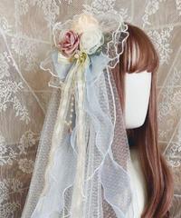 「桃知春昼」ベール付きヘッドドレス ※お洋服と合わせ買いの方のみ※【6/25まで】