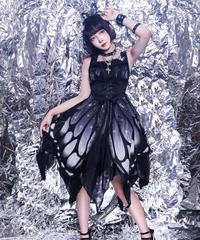 「蝶々〜バタフライエフェクト」ノーマルウエストジャンパースカート【10/1まで】