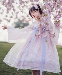 「月下美人クラゲ」漢服風ワンピース【7/29まで】