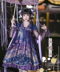 「夜桜の灯り」長袖ワンピース【3/2まで】