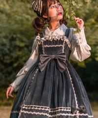 「Honey Sugar」ベルベットジャンパースカート【11/26まで】