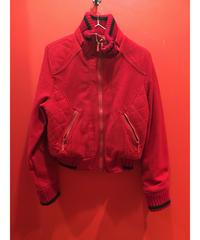 【USED 古着】赤ウール ショート丈リブブルゾン 1482901252-35