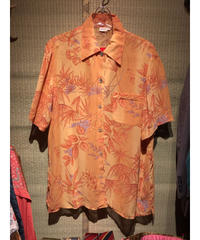【USED 古着】ボタニカルプリント半袖シースルーシャツ AM15295371-27