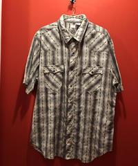 【USED 古着】Levi's ダイヤ柄ストライプ半袖シャツ リーバイス sum-used0014