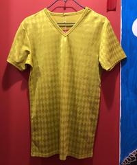 【USED 古着】アーガイル柄ポリエステルVネックシャツ