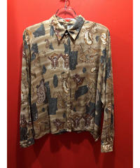 【USED 古着】ペイズリープリント長袖シャツ AM15295371-4