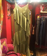 《USED》オリーブグリーンキャミドレス
