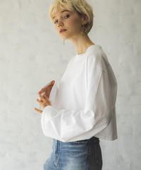 フレアスリーブクロップTシャツ